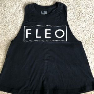 Fleo Tops - Fleo muscle crop tank